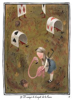 Alice in Wonderland illustration by Júlia Sardà Lewis Carroll, Alice In Wonderland Illustrations, Alice Book, Inspiration Artistique, Alice Madness, Adventures In Wonderland, Wonderland Party, Through The Looking Glass, Children's Book Illustration