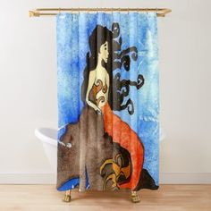 Niina Niskanen is an independent artist creating amazing designs for great products such as t-shirts, stickers, posters, and phone cases. Mermaid Shower Curtain, Shower Curtains, Mixed Media Photography, Artist Profile, Media Design, Sell Your Art, Art Drawings, Whimsical, Digital Art