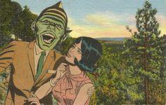 Original Collage on Paper Weird Romance Strange by dadadreams