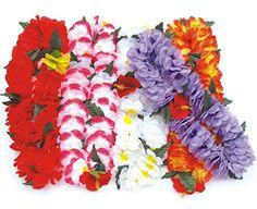 BOSHENG Colorful Luau Flower Leis Necklaces for Tropical ... https://www.amazon.com/dp/B01E34H65K/ref=cm_sw_r_pi_dp_F05txb7NPSTFX