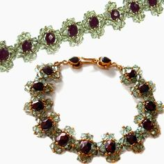 Free crystal pattern: Jeweled Bracelet by Deborah Roberti of Around the Beading Table