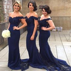 Royal Blue Long Bridesmaid Dresses For Wedding Mermaid Off The Shoulder Applique Lace Cheap Backless Maid Of Honor Gowns Cheap Purple Bridesmaid Dresses Designer Bridal Gowns From Angeliadress, $99.48| Dhgate.Com