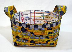 Leslies Art and Sew: Fabric Basket Tutorial