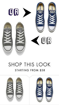 """Which Color?"" by kassandra-cdxv ❤ liked on Polyvore featuring Converse"