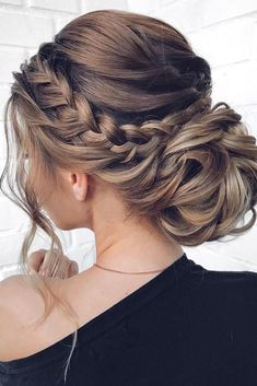 Braided Updo For Short Hair, Braided Hairstyles Updo, Bun Updo, Hairstyle Short, Bun With Braid, Upstyles For Short Hair, Hairstyles For Medium Length Hair, Braids For Medium Length Hair, Halo Braid
