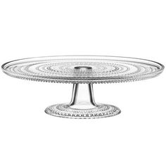Iittala Kastehelmi Cake Stand Home - Dining & Entertaining - Serveware - Cake Plates & Stands - Bloomingdale's Serveware, Tableware, Glass Cakes, Pressed Glass, Cake Plates, Aberdeen, Mens Gift Sets, Norman, A Table