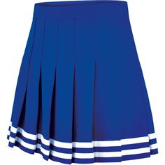 Chassé Knife-Pleat Skirt (300 ARS) ❤ liked on Polyvore featuring skirts, cheerleading, blue striped skirt, stripe skirt, sports skirts, striped skirt and blue skirt