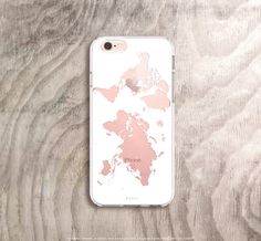 World map iPhone case in white on rose gold iPhone 6s case Etsy listing at