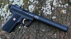 Gemtech Oasis (Ruger MK 2/3) 22/45 integrated suppressor.