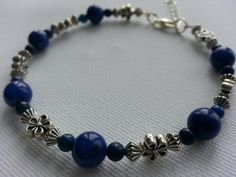 Communication Mala Bracelet  Lapis Lazuli  by lovemeknottbilton, $20.00