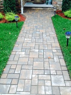 Create an entryway that will be the envy of every neighbor on the block, choose Cambridge Pavingstones with Armortec!