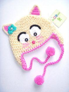 17 Ideas Crochet Hat Earflap Projects For 2019 Crochet Hat Earflap, Crochet Animal Hats, Bonnet Crochet, Crochet Kids Hats, Crochet Cap, Baby Hats Knitting, Crochet Crafts, Crochet Projects, Knitted Hats