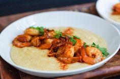 Paprika Shrimp with Cheesy Polenta