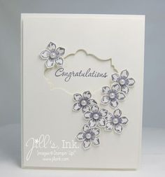 Petite Petals Wedding Card