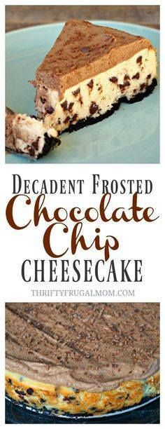 This Decadent Froste This Decadent Frosted Chocolate Chip...  This Decadent Froste This Decadent Frosted Chocolate Chip Cheesecake is one of the best cheesecakes ever! And you cant beat that fluffy chocolate frosting! Recipe : http://ift.tt/1hGiZgA And @ItsNutella  http://ift.tt/2v8iUYW