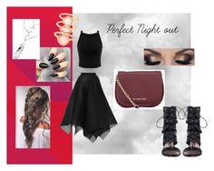 Perfect Night out by designme101 on Polyvore featuring Miss Selfridge, Maison Rabih Kayrouz, Zimmermann, MICHAEL Michael Kors, Monsoon, beautiful, NightOut and classy