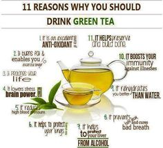 11 Reasons why we should drink #Green #Tea