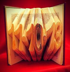 Folded Book Art - Save the Date - Original Wedding Gift - Wedding Date - Anniversary present - Boyfriend - Girlfriend - Baby gift - Birthday gift - book art - folded book art - DIY - crafts - craft - hobby