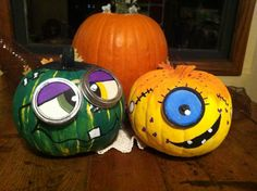 Painted pumpkins by a friend of mine....so cute!