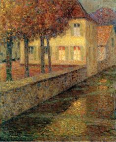 Henri Le Sidaner - The House on the Canal