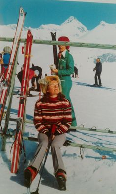 60's vintage ski Verbier  Where I have spent my first winter/christmas holidays.