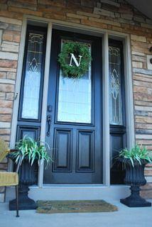Go for it! Paint the front door black!