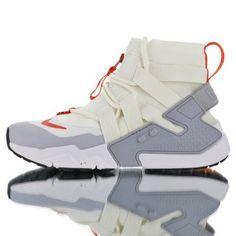 9ba666d2de32 Nike Air Huarache Gripp Sail Beige Red AT0298-100 Mens Winter Running Shoes  Winter Running
