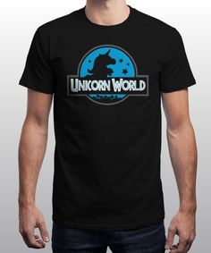 """Unicorn World"" is today's £9/€11/$12 tee for 24 hours only on www.Qwertee.com Pin this for a chance to win a FREE TEE this weekend. Follow us on pinterest.com/qwertee for a second! Thanks:)"