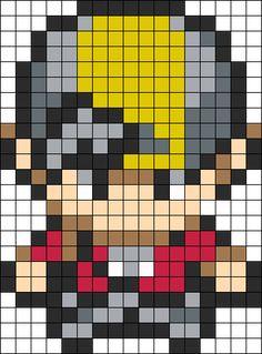 Pokemon Trainer bead pattern