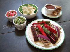 Felt Play Food Pattern Fajita Dinner Felt by sweetemmajean