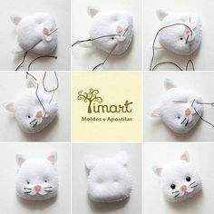 Best 11 PDF sewing pattern for Blank Cat Doll for crafting 37 inches - DIY tutorial- ready to print Diy Cat Toys, Sewing Stuffed Animals, Stuffed Animal Patterns, Felt Crafts Diy, Felt Cat, Felting Tutorials, Cat Doll, Felt Patterns, Sewing Toys