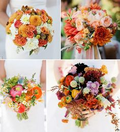I've always loved the top right bouquet. Great texture and color. All of these are lovely.
