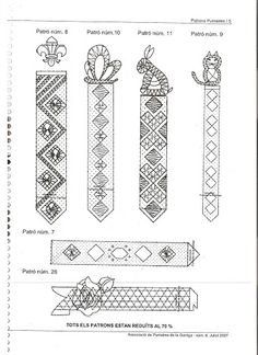 Marcapaginas - Almu Martin - Веб-альбомы Picasa Parchment Cards, Bobbin Lace Patterns, Lacemaking, Needle Lace, String Art, Bookmarks, Tatting, Needlework, Couture