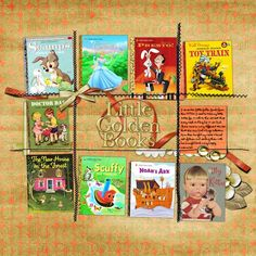 Little Golden Books layout.  Can do page of a child's or your favorite books.