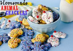 Animal Crackers- what a fun recipe. I love the mothers frosted animal crackers.