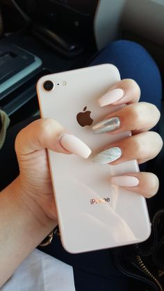 23 Best Ideas For Nails Acrylic Designs Ideas Jade Silver Nails, Blue Nails, Glitter Nails, No Chip Manicure, No Chip Nails, Acrylic Nail Designs, Acrylic Nails, Gel Nails, Fantastic Nails