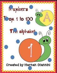 Free Numbers 1-100 and alphabet snails