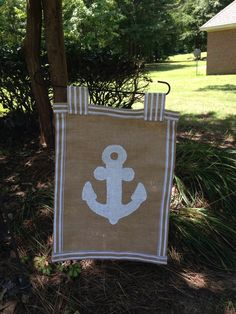 A personal favorite from my Etsy shop https://www.etsy.com/listing/237994088/burlap-anchor-garden-flag