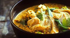 Chicken Laksa (Chicken With Curry and Coconut). The recipe calls this an Indian dish but I had it the first time in Malaysia.