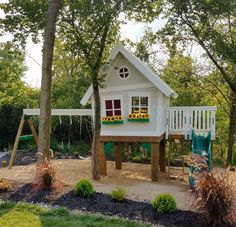 30 fantastic backyard kids ideas playroom design ideas and design . - fantastic backyard kids ideas playroom design ideas and designs . - kids garden - design fantastic gardens backyard kids ideas Make Cozy Backyard, Backyard For Kids, Backyard Projects, Backyard Landscaping, Play House Outdoor Kids, Outdoor Playsets For Kids, Kids House, Backyard Jungle Gym, Landscaping Ideas
