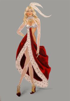 Illustration by Jane Kennedy for the Victoria's Secret Fashion Show 2007