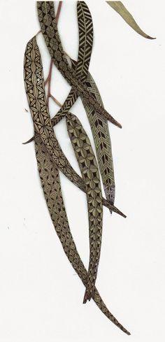 Banar Designs: Diva's Zentangle Challenge 186, feuilles peintes