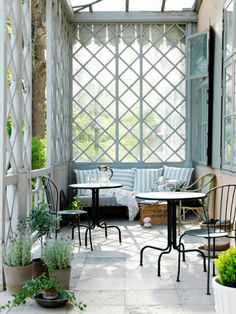 i have never been a fan of lattice until i found this.  love the feel of this porch. closed in, but still breezy.