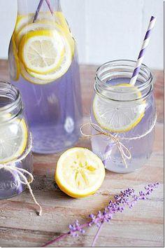 lavender wedding drink display - Google Search