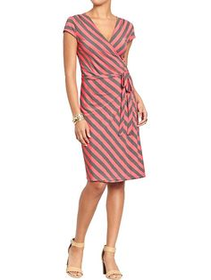 Women's Wrap-Front Jersey Dresses Product Image
