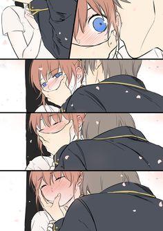 Sougo Okita x Kagura [OkiKagu], Gintama Manga Couple, Anime Couples Manga, Cute Anime Couples, Anime Cosplay, Okikagu Doujinshi, Manga Romance, Gintama, Manga Comics, Anime Ships