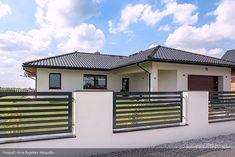 Ambrozja parterowy dom z nowoczesną elewacją i dużym tarasem - Jesteśmy AUTOREM - DOMY w Stylu Beautiful House Plans, Beautiful Homes, House Plans South Africa, African House, Modern Bungalow, Home Fashion, Exterior Design, Future House, Architecture Design