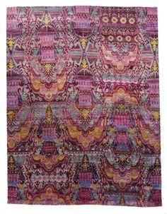 Rug LOVE | The English Room , Sari Silk Moorea Fuscia 8.11 x 11