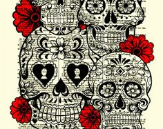Sugar Skull Art, Sugar Skull Collage