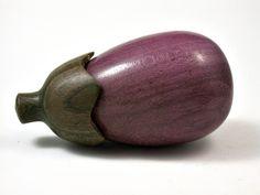 LV-1726 Purpleheart & Verawood Eggplant Trinket Box, Jewelry Box, Needle Case-SCREW CAP